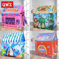QWZ Tent Children Game House Toys House Indoor Baby Tent Toys Girl Princess House Boy Small Tent Household Children's Xmas Gifts