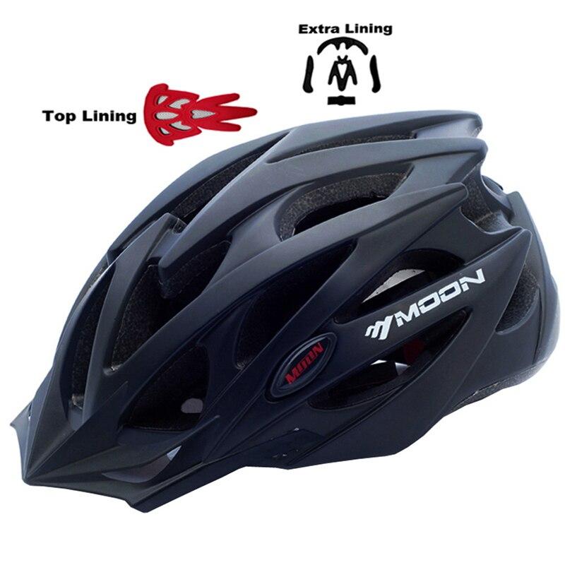 MOON Upgrade Model 2015 Bicycle Helmet Insect Net Cycling Helmet Ultralight Integrally-molded Road Mountain Bike Helmet moon 2017 in mould led bicycle helmet