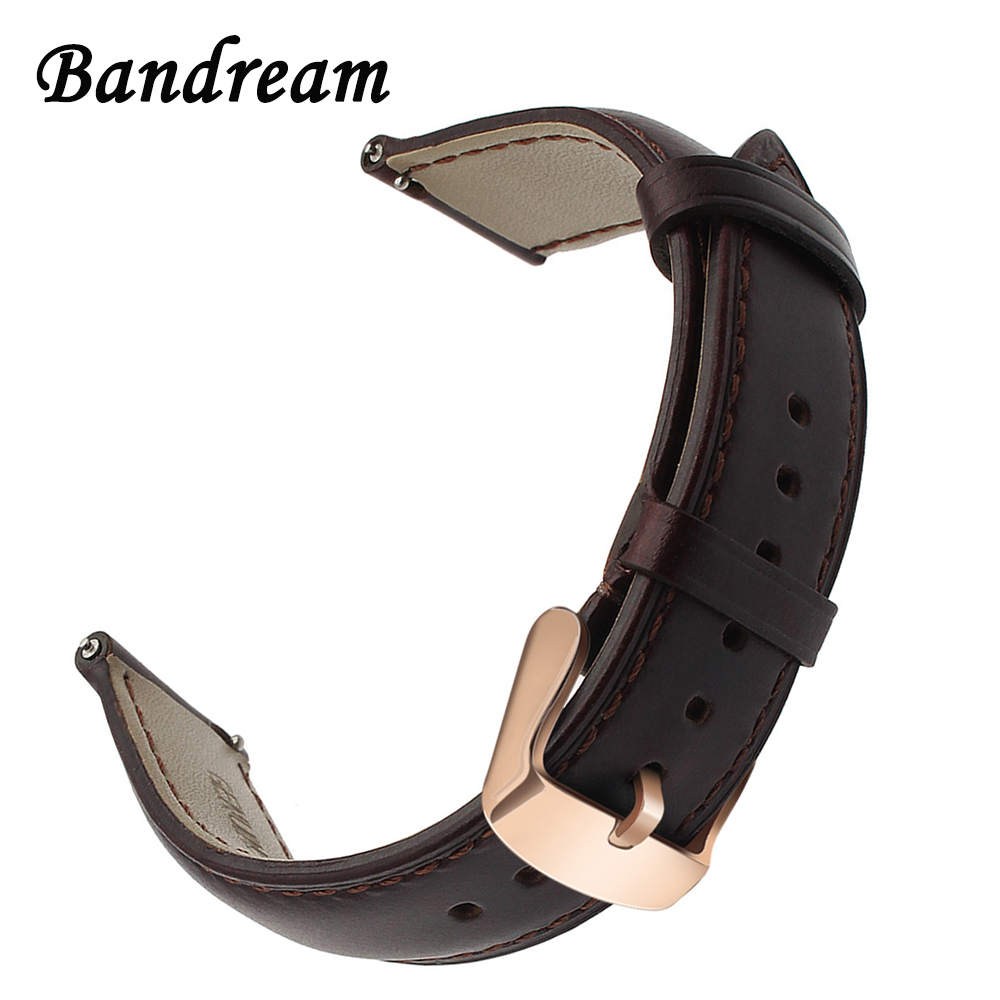 Imported Genuine Leather Watchband 18mm 20mm 22mm for CK DW Diesel Fossil Timex Armani Quick Release Watch Band Wrist Strap Belt