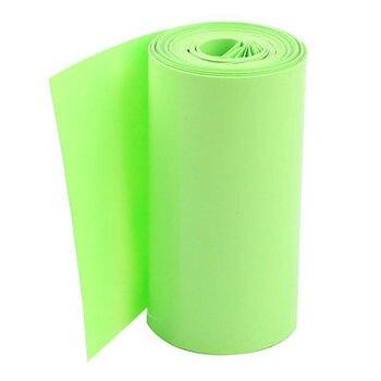 16Ft 5M Long 85mm Light Green PVC Heat Shrink Tubing Wrap for 18650 Battery Pack