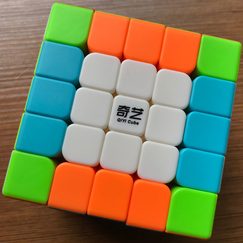 QIYI 5x5x5 Cube Speed Cubo Magico Cube Sticker Less Professional 5 Layer Competition Puzzle Cubes Educational Toys for Children qiyi mofangge the valk 3 power magic cube pvc sticker puzzle cube professional competition magico cubo
