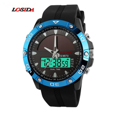 Losida G Style Shock Men Solar Power Display Wristwatch Fashion Digital Sport Watch Chronograph Alarm Waterproof Quartz Watches