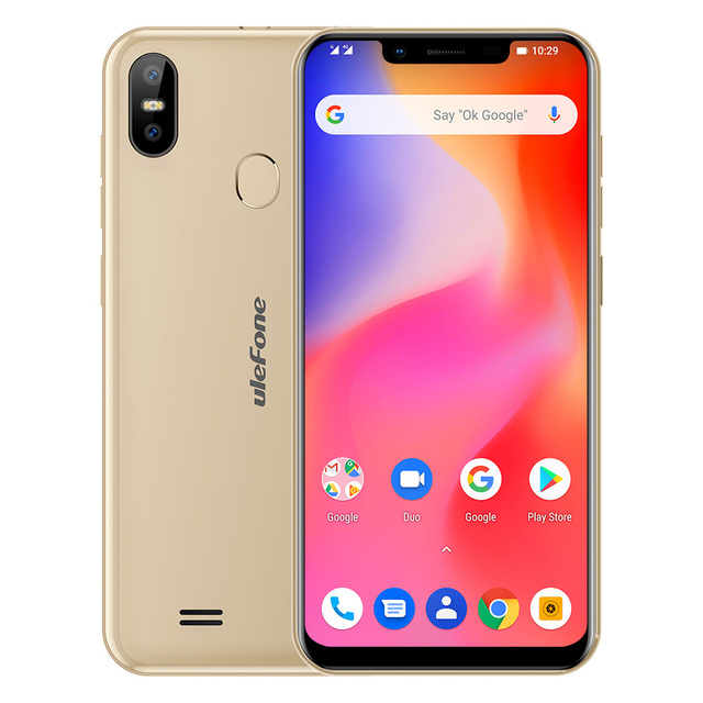 Ulefone S10 Pro Mobile Phone Android 8.1 5.7 inch 19:9 MT6739 Quad Core 2GB RAM 16GB ROM 13MP+5MP Face Unlock 4G Smartphone