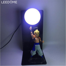 Leedome Dragon Ball Z Son Goku Genki DamaSpirit Bomb Table Lamp Luminaria LED Night Light Room Decorative Lighting Holiday Led
