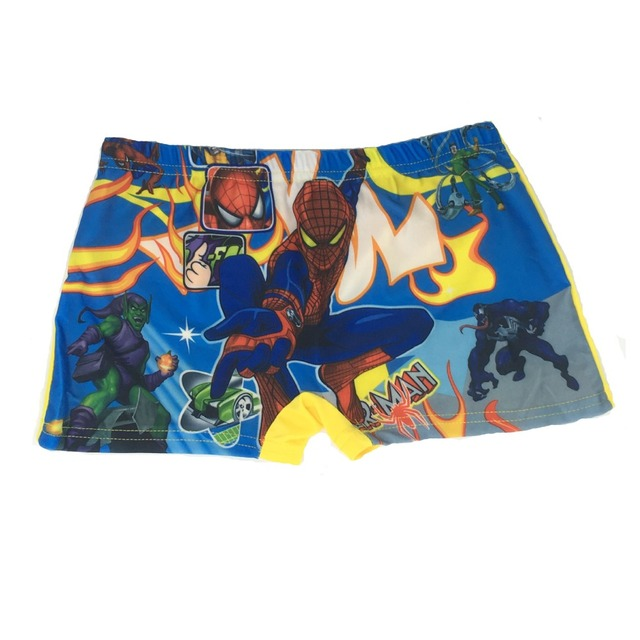 Kids Spiderman swimming Trunks, Baby Cartoon swimming trunks swimwear boys Girl shorts, Captain America child bathing Beach Pant