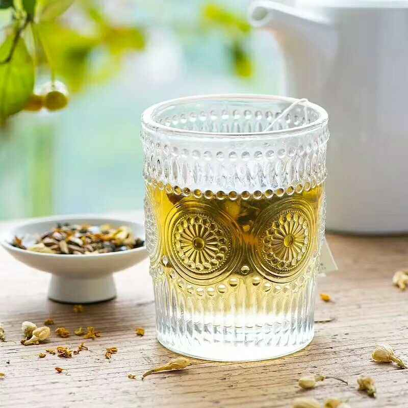 1Pc 300ML Glass Cup Ice Beer Mug Transparent Whisky Glass Cup Tea Coffee Drinking Mug Cocktail Wine Glasses Cafe Bar Drinkware