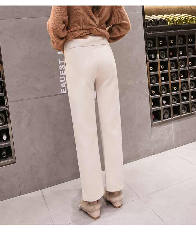996ca4589b9d7 ... Maternity pants autumn and winter fashion new style wear wide-leg  trousers winter woolen suiting