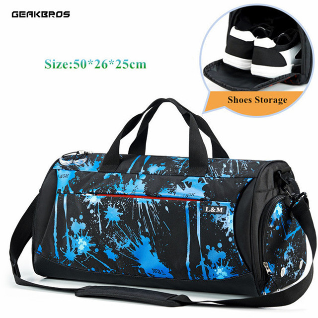 356d25b8772e Men Gym Bags For Training Bag Waterproof Nylon Basketball Fitness Travel  Pouch Women Yoga Outdoor Sports Bag With Shoes Storage
