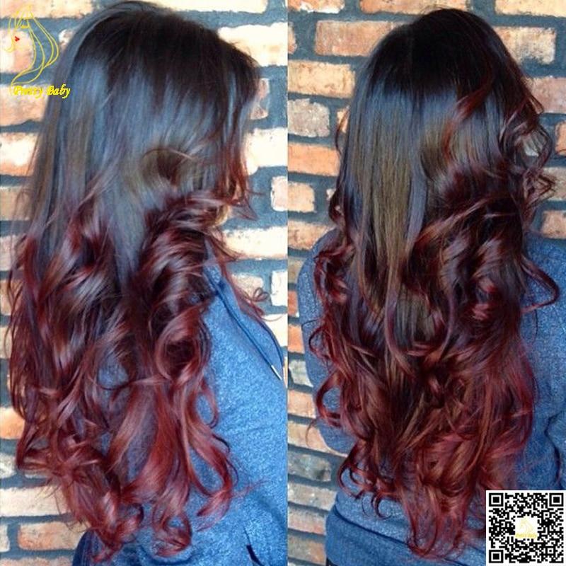 Plum Red Hair Ombre A Super Dark Burgundy