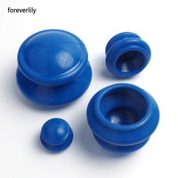 Foreverlily 4pcs Natural Rubber Cupping Therapy Set Health Care Small Body Cupping Jar Acupunture Vacuum Cupping