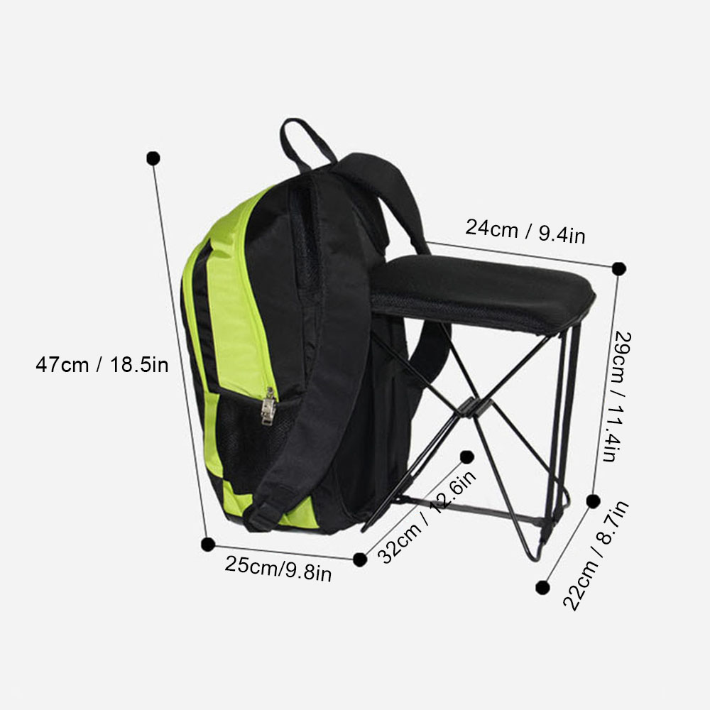 Outdoor Hiking Fishing 47L Camping Travel Backpack With Folding Chair  Backpack Stool Chair Combo Gear Nylon Travel Bagpack NEW In Climbing Bags  From Sports ...