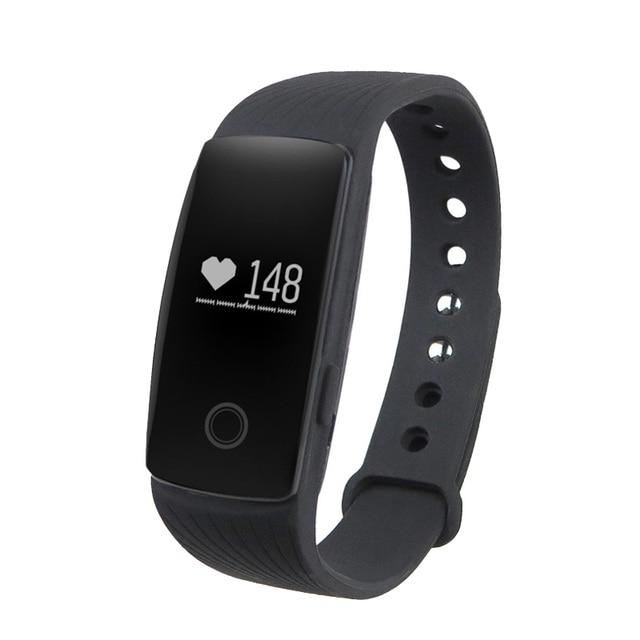 Id107 bluetooth 4.0 smart watch rastreador de fitness banda com heart rate monitor cam remoto para android ios smartphone venda presente