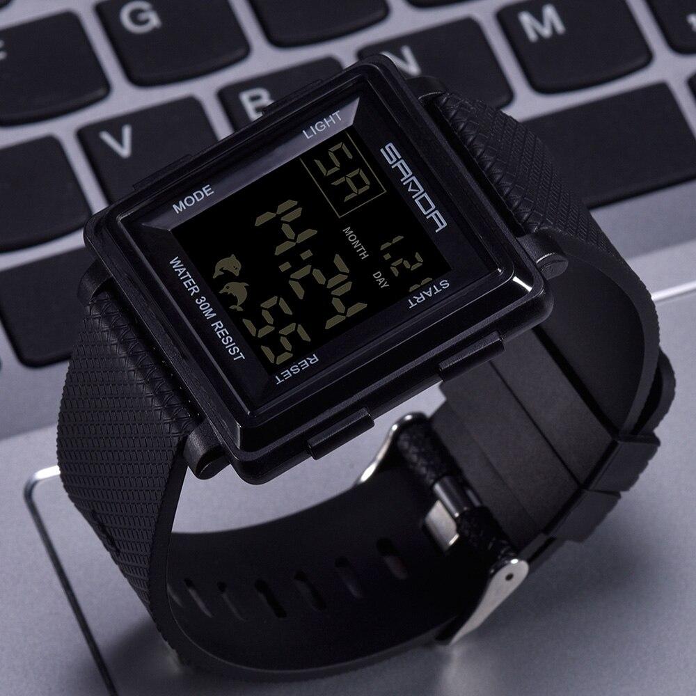 SANDA Sport Watch Men Top Brand Luxury Electronic Wristwatch LED Digital Wrist