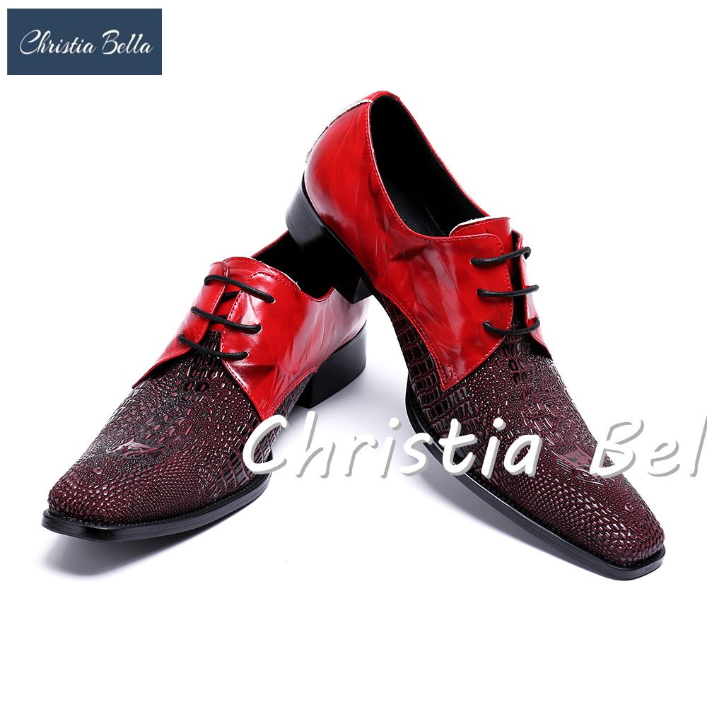 Christia Bella New Arrival Patchwork Sapato Masculino Square Toe Men Dress Shoes Chunky Heels Zapatos Hombre Plus Size 38-47Christia Bella New Arrival Patchwork Sapato Masculino Square Toe Men Dress Shoes Chunky Heels Zapatos Hombre Plus Size 38-47