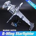Lepin 05045 Nuevo 1487 Unids Genuino Serie Star El b-wing Starfighter Bloques de Construcción Ladrillos de Juguetes Educativos 10227