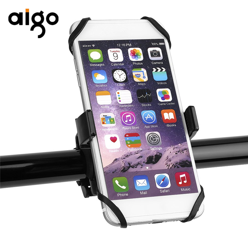 Aigo 360 Degree Rotatable Bicycle Bike Motorcycle Mobile Phone Holder Handlebar Clip Stand Mount Bracket For iPhone For Samsung