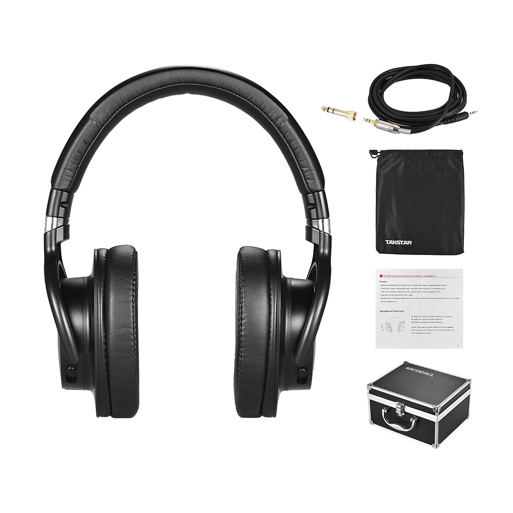 Hot Sale TAKSTAR PRO 82 Professional Studio Dynamic Monitor Headphone Headset Over ear for Recording Monitoring