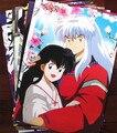 8 pcs Inuyasha set Anime Inuyasha Moneca Miroku Sango Kikyou figures posters 42x29cm for walls free shipping