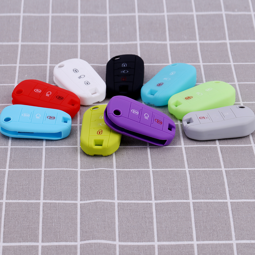 Newly Silicone Car Key Cover FOB Case For For Citroen C2 C3 C4 Coupe VTR Berlingo C6 C8 Flip Remote Car Key Case Car Styling