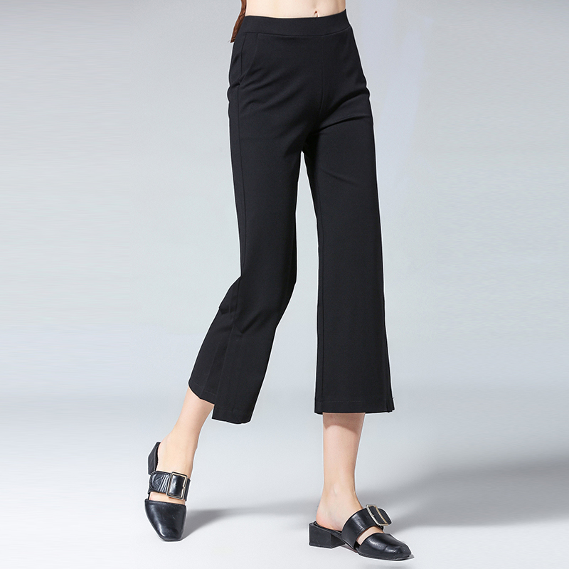 women wide leg pants 2018 fashion sexy high split pants women plus size wide leg casual pant. Black Bedroom Furniture Sets. Home Design Ideas
