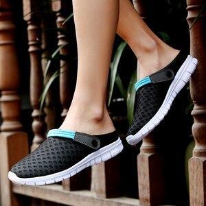 Image 5 - 2020 Heren Sandalen Slide Slippers Mesh Ademende Man Vrouw Mannelijke Schoenen Sandalias Zomer Schoenen Sandalen Sandalet Big Size 46 47