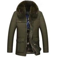 Kış Kalın Pamuk Orta-Yaşlı erkek Gündelik Giyim Kaşmir ceket Baba Kış Giysileri Ceket Erkek 'S Pamuk-Yastıklı Ceket