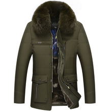 Winter Thicker Cotton Middle – Aged Men 's Casual Wear Cashmere Coat Dad Winter Clothes Jacket Men' S Cotton – Padded Jacket