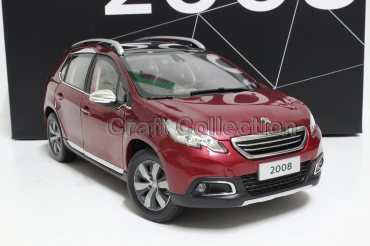 New Red 1/18 Peugeot 2008 SUV Diecast Model Car Alloy Toy Model Sport Combi Wagon 3 Colors