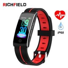 F10C Smart Bracelet ip68 Waterproof Heart Rate Blood Pressure Sleep Monitor Fitness Activity Tracker Sport Wristband Men Band цена и фото