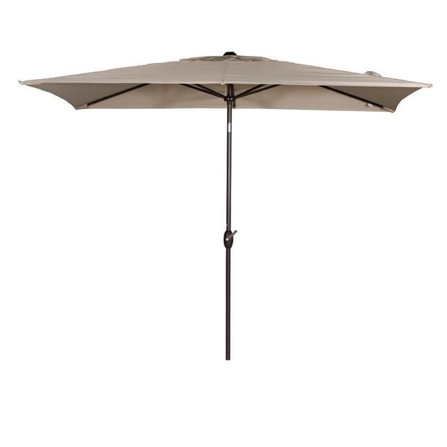 abba patio 66 by 98 feet rectangular market outdoor table patio umbrella with push button - Abba Patio