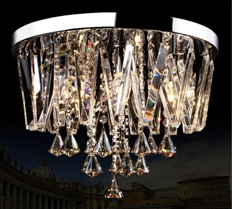 European Fashion Living Room Crystal Ceiling Lamp Home Deco DIY Circle Creative Restaurant E14 LED Bulb Ceiling Lighting Fixture|ceiling lamp|corridor lamp|crystal ceiling light - title=