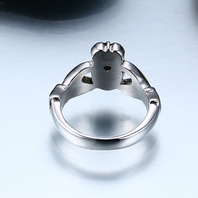 Claddagh Ring Stainless Steel Heart Wedding Band Made in Ireland 3