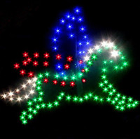 New High Quality Outdoor Fun Sports LED Power Horse Kite With 414 LED Lights Good Flying Factory Outlet