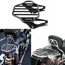 Papanda Steel Black Motorcycle Detachable Two Up Luggage Rack for Harley Touring Road King Street Glide FLHX FLHR FLTR 2009-2016 detachable stealth luggage rack for harley touring electra glide road king street glide touring 2009 2016 motorcycle