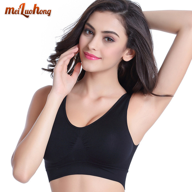 7cbcf02621 XL XXL Women Push Up Sports Bras Padded Wirefree Shockproof Gym Fitness  Athletic Running Yoga Vest Sports Tops (No Bra Pad)