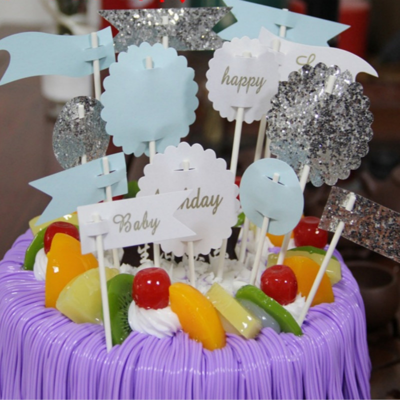 Cheerful And Bright Happy Birthday Cake Banner Free Printable