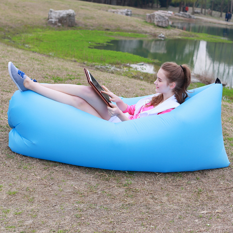 Lazy Sofa Chair, Living Room Bean Bag Cushion, Outdoor Self Inflated Beanbag Lounge Sleep Bag Furniture free shipping 240337 ergonomic chair quality pu wheel household office chair computer chair 3d thick cushion high breathable mesh