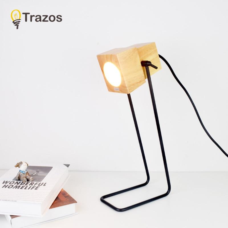 TRAZOS офисные светодиодный Стол Lights с складной руки настольная лампа luminaria-де-меса Металл Простой настольная книга светильники
