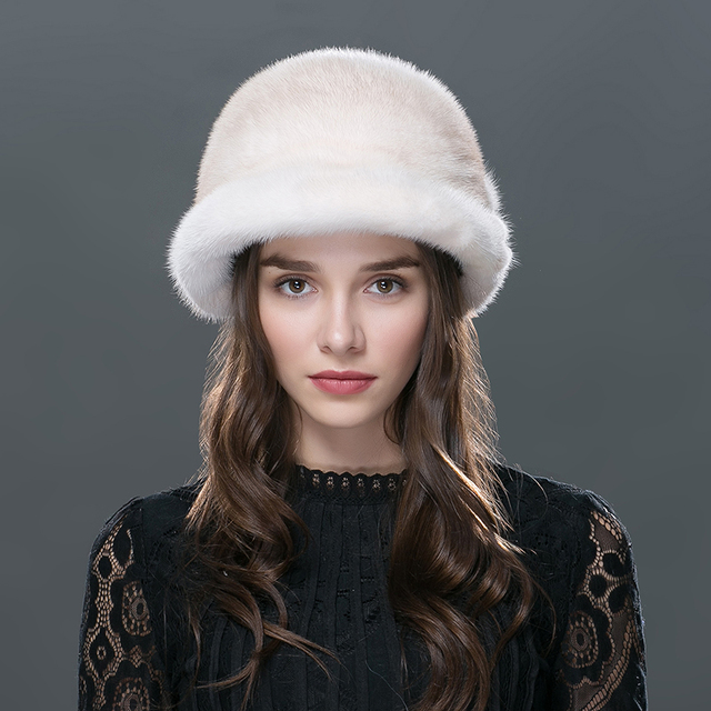 7 Colors Women's Hats Whole Mink Fur Hat LTGFUR Brand Female Knit Beanie Winter Fashion Formal Knitted Caps For Women WZD-03