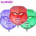 Konmison 3/7 cor led máscara facial acne remoção do enrugamento do rejuvenescimento da pele led photon máscara facial massagem facial máscara levou