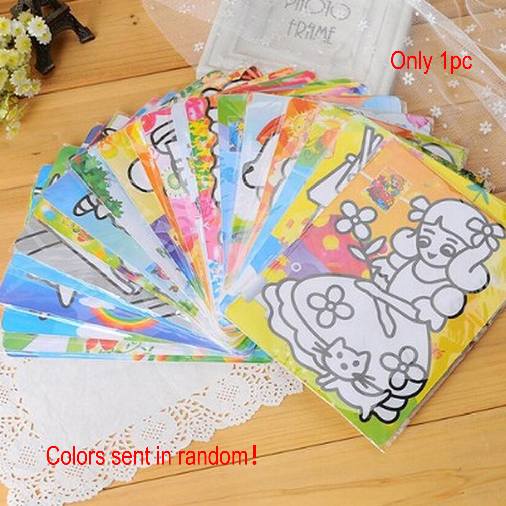 15X20CM Children Kids Drawing Toys Sand Painting Pictures Kid DIY Crafts Education Toy Pattern Random
