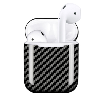 MONOCARBON Genuine Carbon Fiber Case for AirPods 1 2 Wired Charging Case Wireless Charging Case for Apple Air Pods Earbuds
