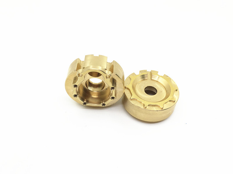 2 Pairs/4Pcs 1:10 RC Climbing Car Copper Counterweight Upgrade Pieces Scale Traxxas TRX-4 Weight Lifting Parts Wholesale 1 10 climbing rc car upgrade parts cnc