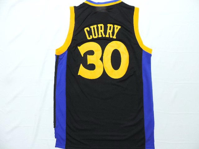 hot sale online bc391 52f42 30 Stephen Curry Jersey Retro The City Yellow Blue Black ...