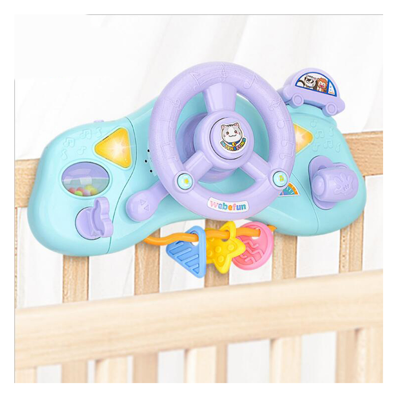 Children's Educational Early Education Multi-function Steering Wheel Toy Electric Simulation Light Music Toy , Good Quality
