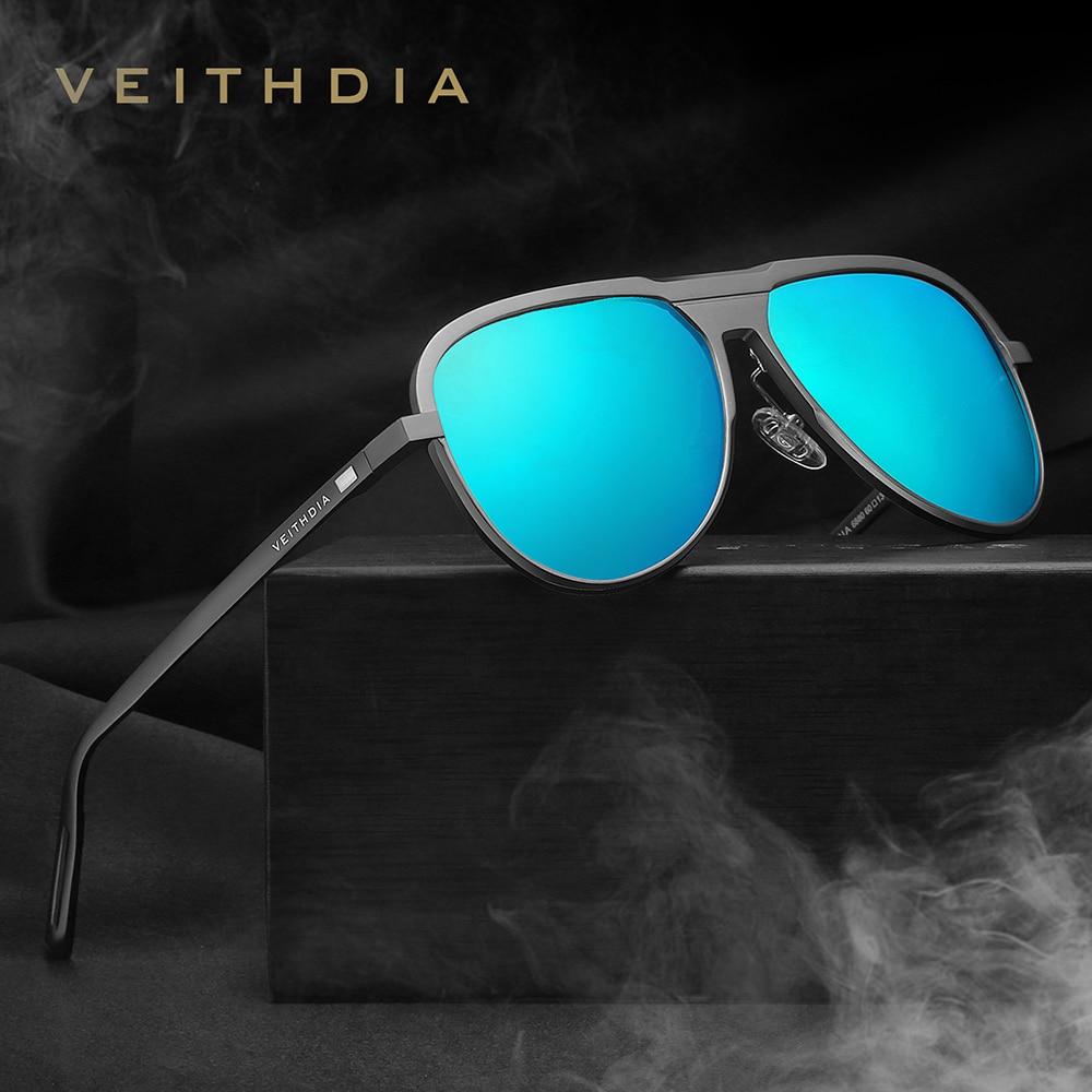 New VEITHDIA Brand Mens Aluminum Magnesium Sunglasses Polarized Eyewear Accessories Male Sun Glasses For Men/Women gafas VT6880