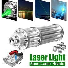 Burning Green Laser Pointer Tactical Lazer Powerful Military Sight 5000m Focusable lazer pen Burn Match