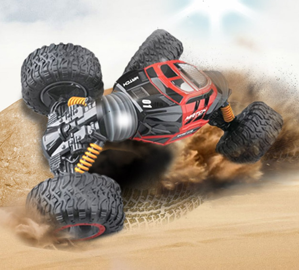 RC Car 4WD Climbing Truck Scale Double-sided 2.4GHz One Key Transformation All-terrain Vehicle Varanid Remote Control Car Toys