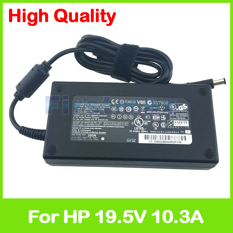 Slim 19.5V 10.3A AC adapter for HP EliteBook 8570w laptop charger 608431-002 609945-001 644698-002 HSTNN-CA16 HSTNN-CA24 8 cell org laptop battery for nx8420 361909 001 361909 002
