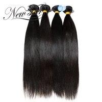 Новая звезда 4 Связки 10 30 дюймов бразильский прямые человеческие волосы девственницы расширение бразильского пучки волос плетение